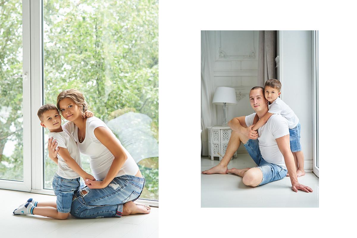 фотосессия беременных, в ожидании чуда с мужем и ребенком