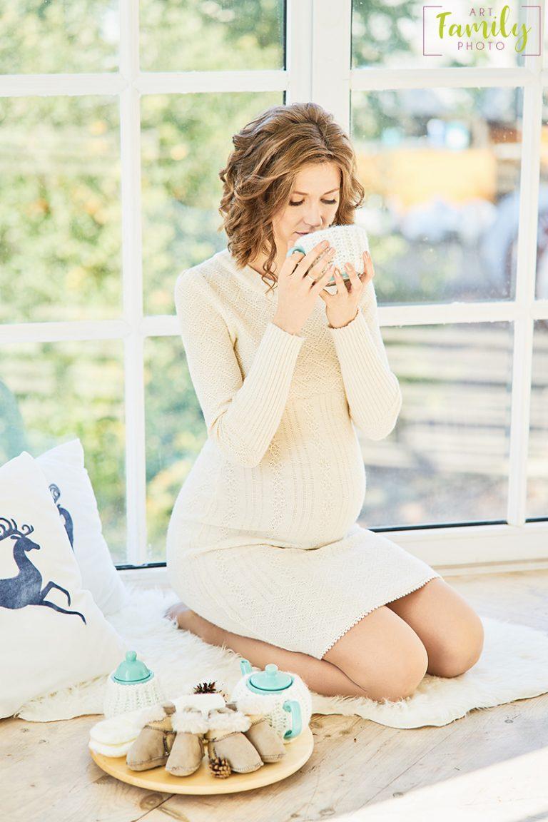 Новогодняя фотосессия беременных фото 995